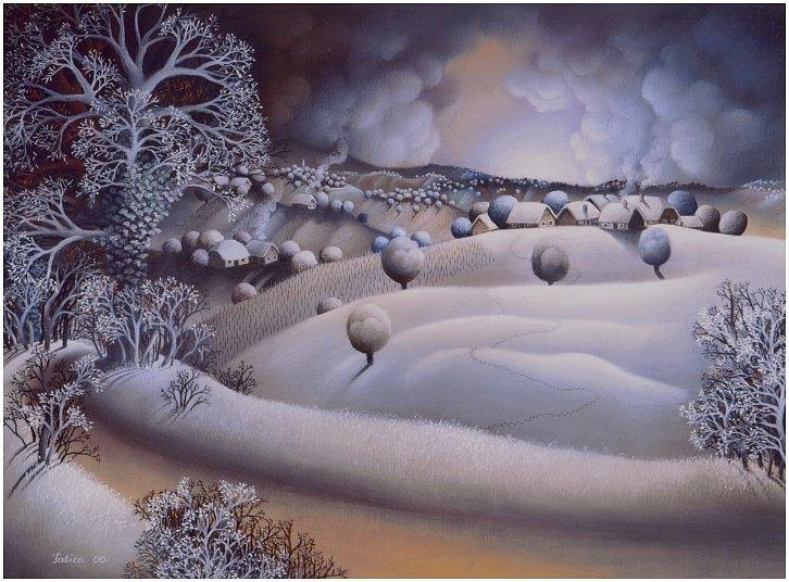 Silvery frost