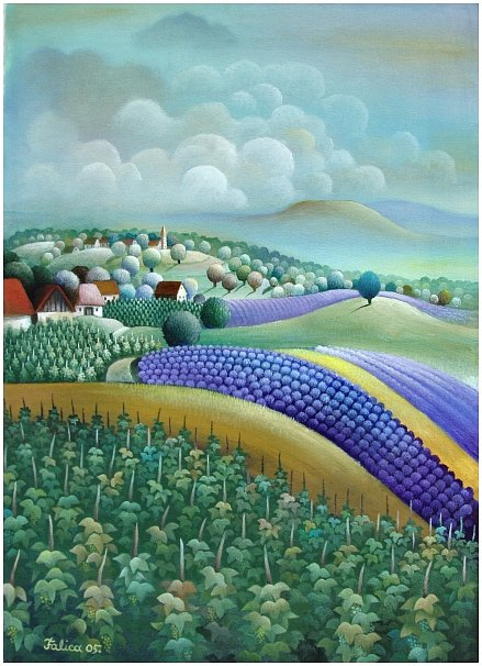 Vineyards and lavender fields