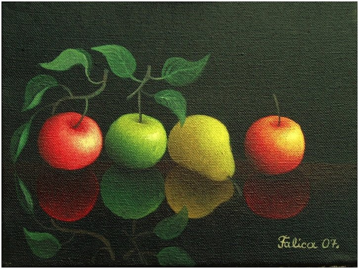 Pear and three apples