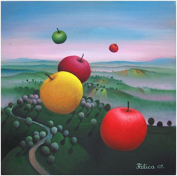 Flying apples